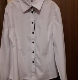 Блуза шкільна біла р 146-152