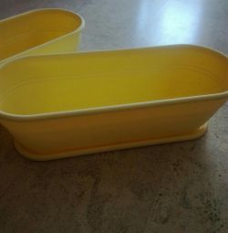 Tray for flowers yellow