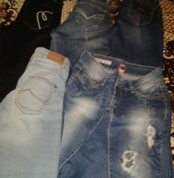 Jeans pants condition new price 100-500