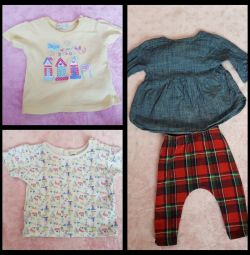 Clothes for baby from new born up to 5 mth.