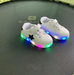 Backlit children's sneakers new
