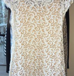 Rochie din dantelă tricotată scurtă Hiche