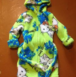 Robe with a hood and ears, for 5-7 years