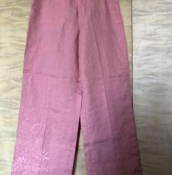 Παντελόνι Γυναικείο λινό νέο 44 ύψος 160
