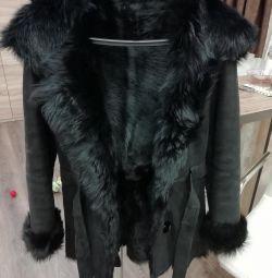 Γυναικείο παλτό από δέρμα προβάτου