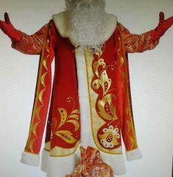 Santa Claus costume Maximus red suit, good quality