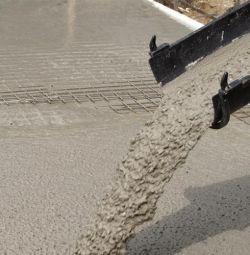 beton amestecat gata pe pietriș
