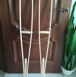 Crutches wooden
