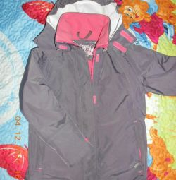 Branded membrane jacket on the growth of 130-140 cm.