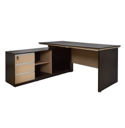 OFFICE ANGLE PROFESSIONAL 160X155 WENGE BEIGE HM