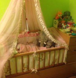 Детская кровать-трансформер «Маруся», + матрасы