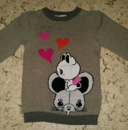 Sweater-jumper for girls p 110-116