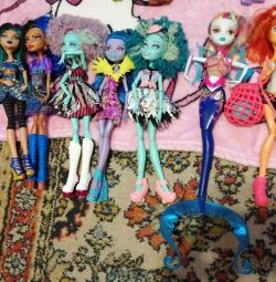 Monster High dolls. In a good condition.