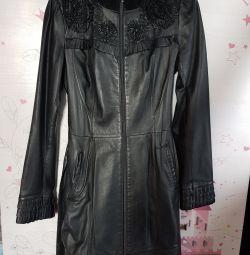 Leather coat ACASTA 40-42
