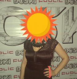 Платье женское черное вечернее размер М