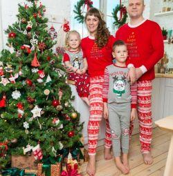 Новогодние пижамы для всей семьи