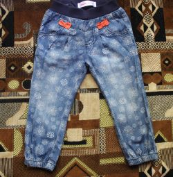 Jeans are thin, 12-18 months.