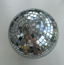 Διάμετρος σφαίρας καθρέφτη 20cm μπάλα δίσκου λευκό