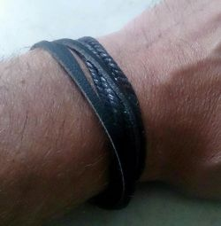 Leather bracelet - wicker (new)
