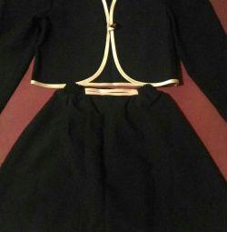 Jacheta si fusta pentru fata (set)