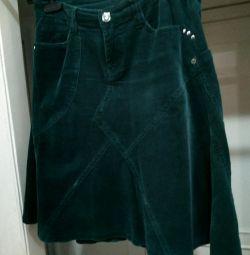 Skirt, thin velveteen. Morgan