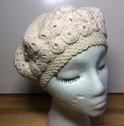 Exclusive beret, cotton, art 069, size 54-56