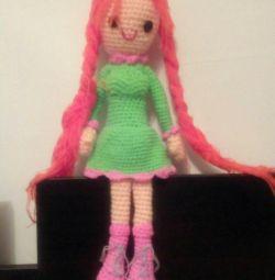 Knitted handmade toys
