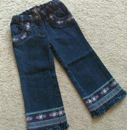 Jeans pentru fată mărimea 92