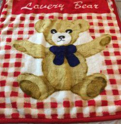 Pătură pentru copii cu un urs