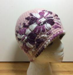 Чудесная шапочка на девочку, размер 53-56, арт 217