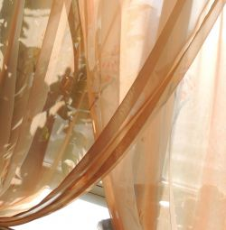 Curtains from chiffon on hinges
