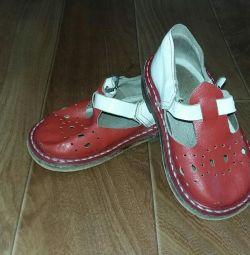 Sandale din piele pentru grădiniță