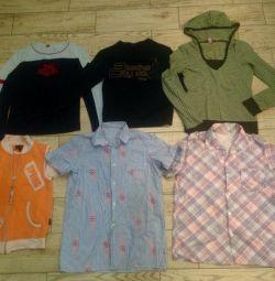 Кофты с длинным рукавом, футболки, рубашки из СССР