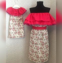 New family look dresses