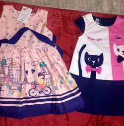 Dresses (2 pcs. 3-4 years and p104)