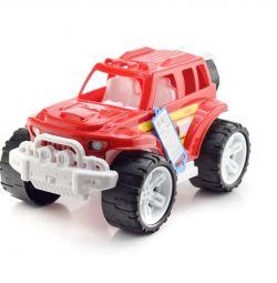 Машина Внедорожник Пожарный с колесом