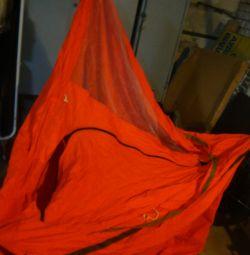 палатка 2х спальная с предбанником россия