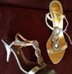 Sandale de argint 38,5 - 39.