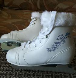 Skates dvukhpolozny new 32 size