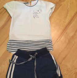 Set of T-shirt shorts 92