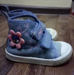 Sneakers for the girl 14cm.
