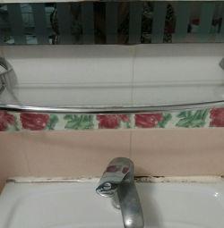 Raft de sticlă pentru baie