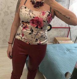 Mătase top / corset cu colier (set) 44/46
