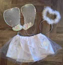 Costum, aripi de înger (fulg de zăpadă)