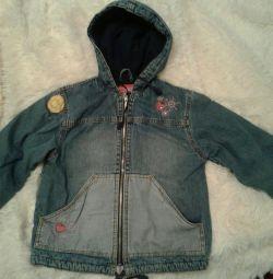 Jeans jacheta, izolate