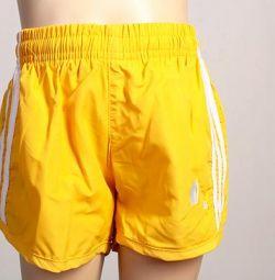 Σορτς κίτρινο Adidas νέο για 5 χρόνια