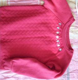 Blouse warm for a girl 3-5 years old