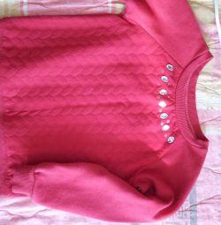 Μπλούζα ζεστή για ένα κορίτσι 3-5 ετών