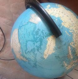 Large globe with backlight