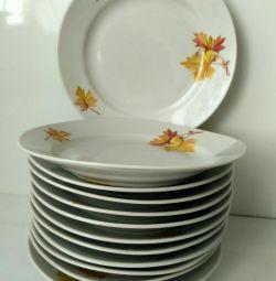 Тарелки, набор, тортница, блюдо